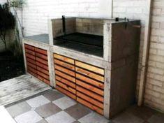 Pergola For Sale Craigslist Modern Outdoor Kitchen, Outdoor Living, Pergola Patio, Pergola Kits, Furniture Decor, Outdoor Furniture, Outdoor Decor, Parrilla Exterior, Brick Grill