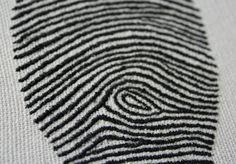 Hand Embroidered Fingerprint