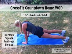 CrossFit Countdown Home WOD. #getafterit