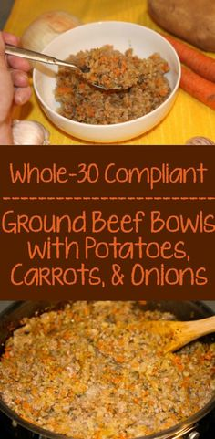 These Whole30 Ground Beef Bowls were so easy to make and a hit with the whole family!