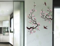 Large Cherry Blossom tree Wall Art Decal Vinyl Sticker   eBay