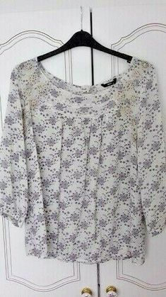 M/&Co New Plus Size Green Blue Floral Flower Chiffon Lined Top Blouse Size 14-18