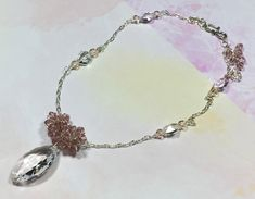Statement necklace crystal necklace girlfriend gift