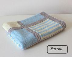 Couverture bébé patron / Patron tricot / patron tricot pour bébé