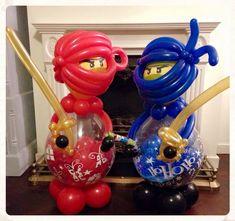 Ninjas  made by balloonblooms.co.ul Ninjago Party, Lego Ninjago, Balloon Bouquet, Balloon Arch, Stuffed Balloons, Ninja Birthday Parties, Beauty Room Decor, Balloon Gift, Boy Decor
