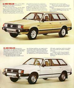 1980 Subaru GL and DL 4WD Wagons