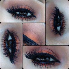 All Mac products. •Lid Orange •inner and outter corners beauty marked and sketch. •highlight vanilla. •eyeliner Blacktrack and false eyelashes by @Allison House! of Lashes #makeup #makeupbyjenny #mayamiamakeup #anubismakeup #elymarino #vegas_nay #the_makeup_world #beatthatface #blendthatshit #auroramakeup #anastasiabeverllyhills #falselashes #lashes #motd #eotd #desimakeup #makeupshayla #glam_trash_makeup #themakeupcollection #_bredoll #igmua #iloveigmuas