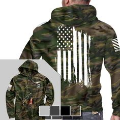 Tailgate Hoodie - America - Full Back - Nine Line Apparel Tactical Clothing, Tactical Gear, Tactical Hoodie, Nine Line Apparel, Moda Nike, Mode Man, Grunt Style, Camo Hoodie, Mode Inspiration