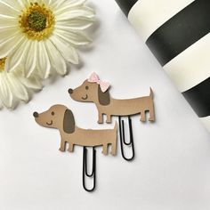Weiner Dog Page Clip Planner Clip Bookmark FiloFax by HoweCute4You