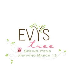 Evy's Tree Spring giveaway! $250 gift certificate is being given away, Spring items hit shop on March 13. Head on over and enter!!