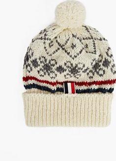 51ad002ce32 Fair Isle Beanie Hat. The Thom Browne Fair Isle Mohair Blend Scarf for AW16