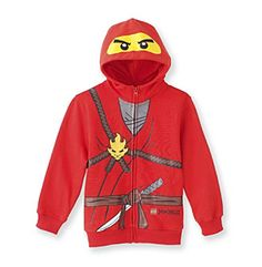 LEGO® Boys' 4-20 Red Ninjago Fleece Hoodie Costume