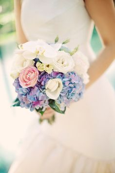 #hydrangeas #bouquet  Photography by gerdemark.se  Floral + Event Design by bloomzflowersbali.com    Read more - http://www.stylemepretty.com/2013/06/20/bali-wedding-from-erika-gerdemark-photography/