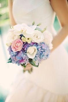 #hydrangeas #bouquet  Photography by gerdemark.se  Floral + Event Design by bloomzflowersbali.com    Read more - http://www.stylemepretty.com/2013/06/20/bali-wedding-from-erika-gerdemark-photography/