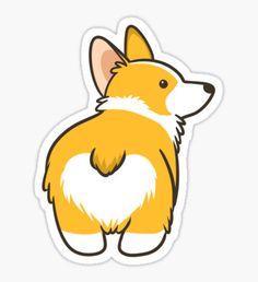 Corgi Heart Butt Sticker