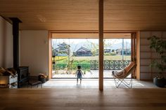 Modern Japanese Interior, Ehime, Dining Room, Woodworking, Cabin, Windows, Architecture, House, Furniture