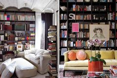 """Author and playwright Alan Bennett was once quoted as saying """"A bookshelf is as particular to its owner as are his or her clothes; a personality is stamped on a library just as a shoe is shaped by the foot."""" I would most certainly concur.    courtesy, Honestly, WTF"""