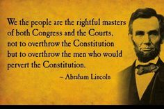 Abe knew what he was talking about - I pray the people of America will wake up and realize this.  Preach it and teach it everywhere you go!