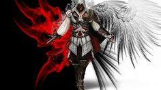 I am a demal (angel demon) Assassins Creed, Fantasy World, Light In The Dark, Cartoon, Image, Dark Angels, Gaming, Google, Assassin