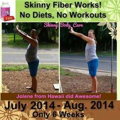 YES Skinny Fiber WORKS :) - Changing Lives One Pound At A Time