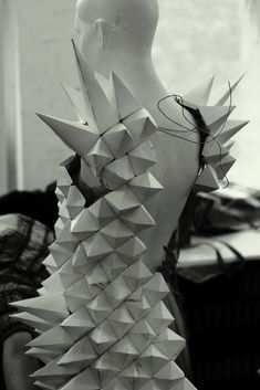 spike wings. origami clothing. DIY PAPER DRESS