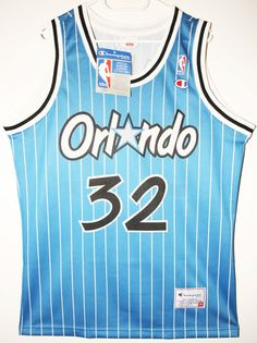 Details zu NEUW Champion NBA Basketball Orlando Magic #32 Shaq O'Neal…