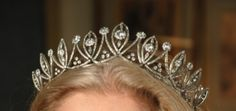 Smedmore Tiara - 19th-century  tiara in old-cut diamonds set in silver, the stones foil-backed