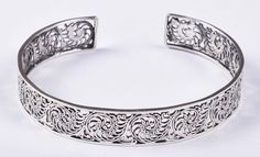 925 Solid Sterling Silver Bangle Stylish Jali Work Easy to Sizable Bangles, Bracelets, Jewellery Display, Traditional Design, Asian, Sterling Silver, Stylish, Easy, Handmade