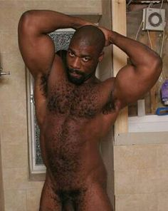 Naked black hairy men