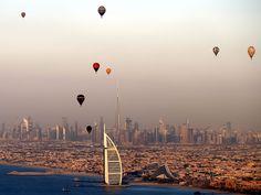 Hot aire balloon fly over the luxury hotel of Burj Al-Arab during Dubai International Balloon Fiesta as part of the last day of Dubai Air Games 2015 in Dubai, United Arab Emirates.  Ali Haider, European Pressphoto Agency