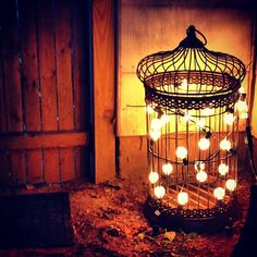 Such a creative outdoor light using a lovely birdcage from HomeGoods! This cute and clever idea makes us #HomeGoodsHappy