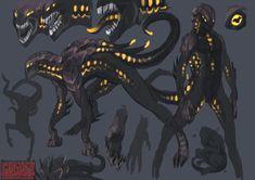 Monster Concept Art, Alien Concept Art, Creature Concept Art, Monster Art, Creature Feature, Creature Design, Anime Fantasy, Dark Fantasy Art, Character Design References