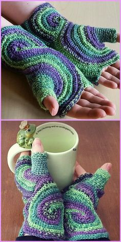Crochet Octavo Fingerless Gloves Free Pattern