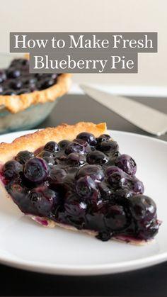Fresh Blueberry Pie, Healthy Blueberry Recipes, Fruit Recipes, Sweet Recipes, Dessert Recipes, Cooking Recipes, Recipe For Blueberry Pie, Recipes With Fresh Blueberries, Oatmeal Blueberry Muffins Healthy