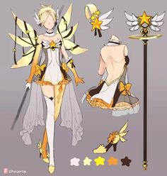 overwatch shourca mercy magic girl Mercy overwatch magic girl ShourcaYou can find Magical girl outfit and more on our website Magical Girl, Character Concept, Character Art, Overwatch Skin Concepts, Manga Anime, Anime Art, Anime Dress, Fantasy Dress, Drawing Clothes