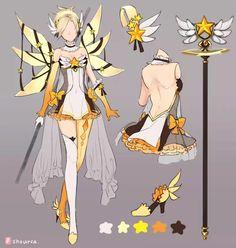 Mercy overwatch magic girl Shourca