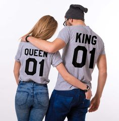 King and Queen Couples T-shirt Set, King and Queen Couples Shirt Set