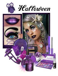 """Purple Halloween Makeup"" by ragnh-mjos ❤ liked on Polyvore featuring Belleza, Estée Lauder, Lancôme, OPI, Wet n Wild, DCI, Urban Decay, Manic Panic, purple y beautyset"