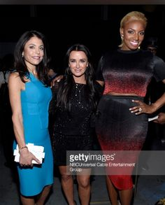 NBC / Bravo Upfronts: Nene Leakes & Giuliana Rancic's Red & Black Skirt & Top   http://www.bigblondehair.com/real-housewives/nbc-bravo-upfronts-nene-leakes-giuliana-rancics-red-black-skirt-top/