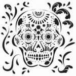 Dia de Los Muertes for ALL!    Get your stencils at AlteredPages.com