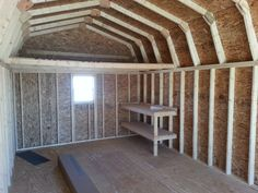 Hip roof 16 x20 workshop storage buildings | barn storage building has gambrel roof which allows maximum storage ...