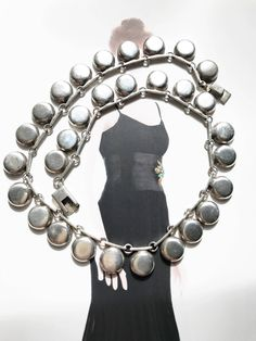 Vintage Mexican 950 silver circle necklace   circular drop bib collar  necklace   geometric modernist   Native American indigenous style by StaceyFayDesigns on Etsy https://www.etsy.com/listing/547924901/vintage-mexican-950-silver-circle