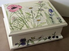Painted Furniture Nature Boxes Botanical Garden by BetweenTheWeeds,