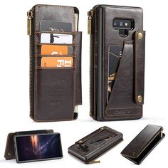 Galaxy Note 9 Leather Wallet Case,AKHVRS Leather Phone Wallet Case Cover and Credit Card Flip Case Protective & Card Slots [Detachable Slim Case] for Samsung Note 9 Flip Case Cover Black Samsung Cases, Samsung Galaxy, Phone Cases, True Wallet, Galaxy Note 9, Phone Wallet, Leather Cover, Black Handbags, Leather Wallet