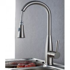 Colema Brushed Nickel Pull Out Sprayer Faucet