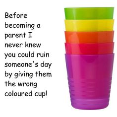 Oh the wrong coloured cup...