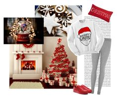 """""""That Cristmas sweater"""" by lol5295 ❤ liked on Polyvore featuring Levtex and Eberjey"""