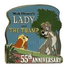 Disney Pin - Walt Disney's Lady and the Tramp 55th Anniversary - Limited Edition - Pin 77710