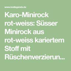 Karo-Minirock rot-weiss: Süsser Minirock aus rot-weiss kariertem Stoff mit Rüschenverzierungen und Schleiffe.Passend zu diesem...