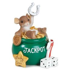 Charming Tails Wishing You Luck Mouse Figurine NEW in BOX 12247